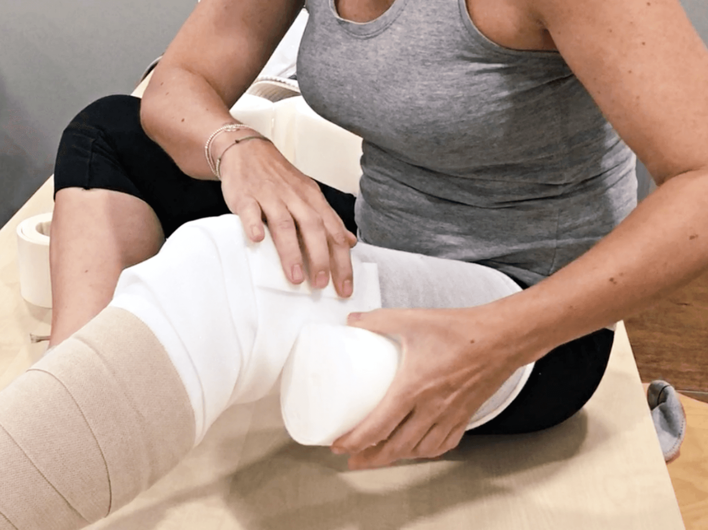 Tutorial para el autovendaje de pierna en pacientes de linfedema